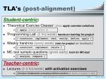 tla s post alignment