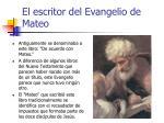 el escritor del evangelio de mateo