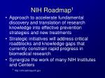 nih roadmap 1