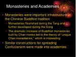 monasteries and academies