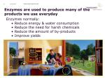 enzymes are used to produce many of the products we use everyday