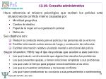 13 10 consulta administrativa