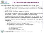 13 10 tratamiento psicol gico a polic as ii