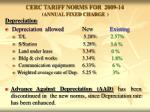 cerc tariff norms for 2009 14 annual fixed charge7