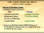 cerc tariff norms for 2009 14 annual fixed charge8