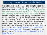 over quotation internal citation