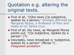 quotation e g altering the original texts