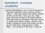 quotation increase credibility