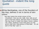 quotation indent the long quote