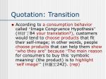 quotation transition