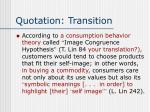 quotation transition11