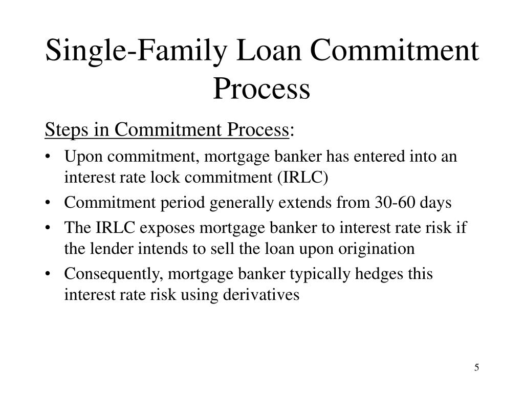 Single-Family Loan Commitment Process