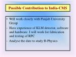 possible contribution to india cms