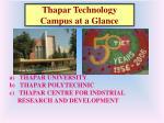 thapar technology campus at a glance