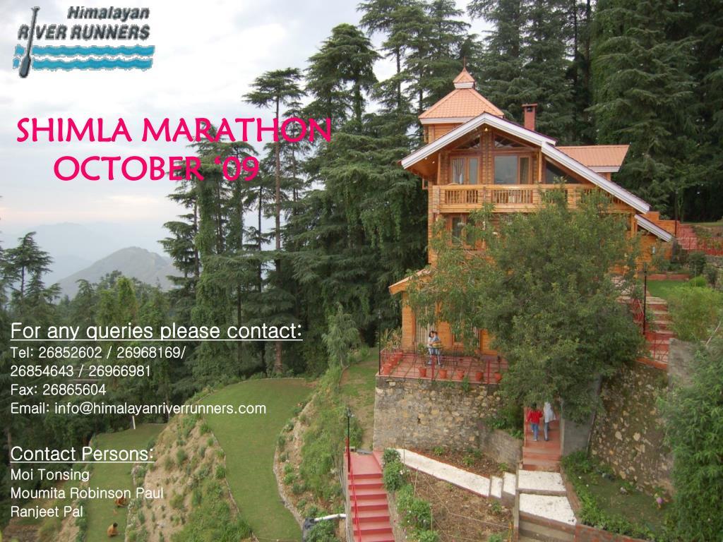 shimla marathon october 09 l.