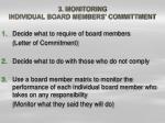 3 monitoring individual board members committment