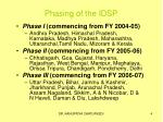 phasing of the idsp