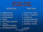method study ms marie d cruz