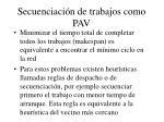 secuenciaci n de trabajos como pav21
