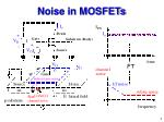noise in mosfets