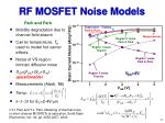 rf mosfet noise models11