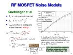 rf mosfet noise models12