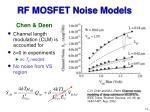rf mosfet noise models14