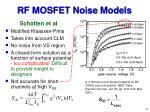 rf mosfet noise models15