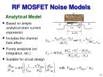 rf mosfet noise models18