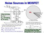 s id channel noise flicker noise s ig induced gate noise s ir thermal noise of real resistances