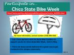 participate in chico state bike week