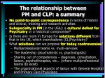 the relationship between pm and clp a summary
