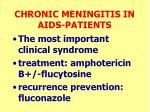 chronic meningitis in aids patients