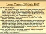 letter three 24 th july 1917