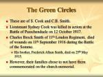 the green circles