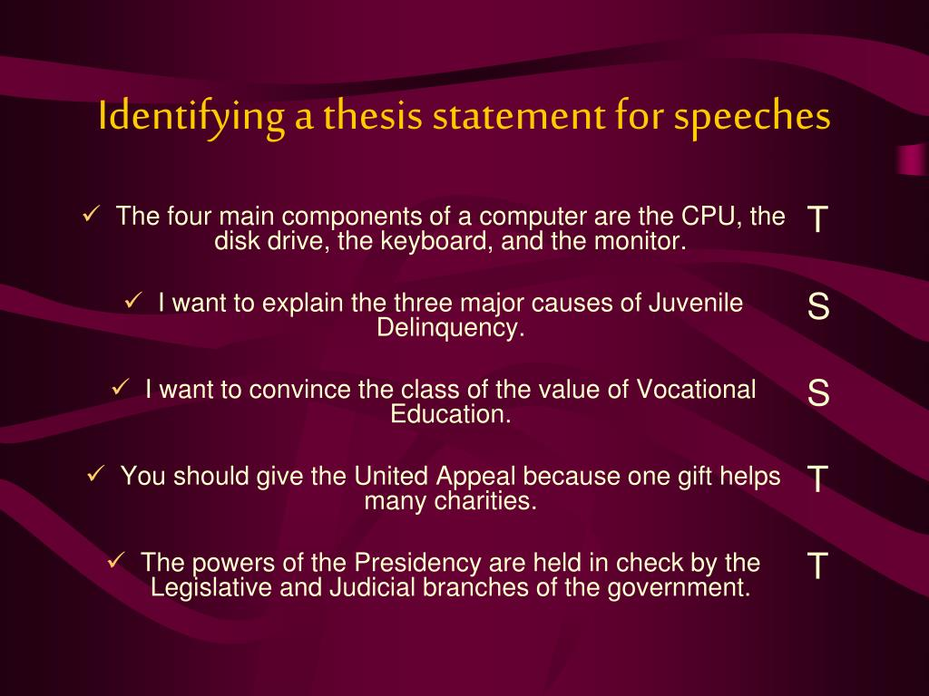 forming a thesis statement for a speech Сreating your own strong thesis statements has never been so fast and simple try our thesis statement generator for free without registration.