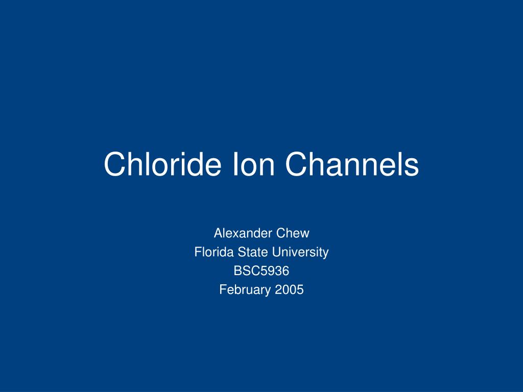 chloride ion channels l.