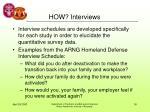 how interviews