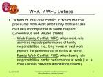 what wfc defined
