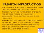 fashion introduction