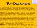 top designers
