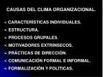 causas del clima organizacional