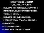 efectos del clima organizacional