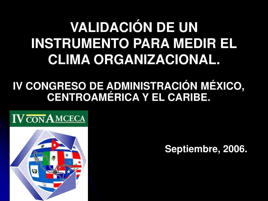 validaci n de un instrumento para medir el clima organizacional l.