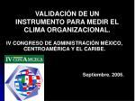 validaci n de un instrumento para medir el clima organizacional