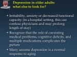 depression in older adults what else to look for