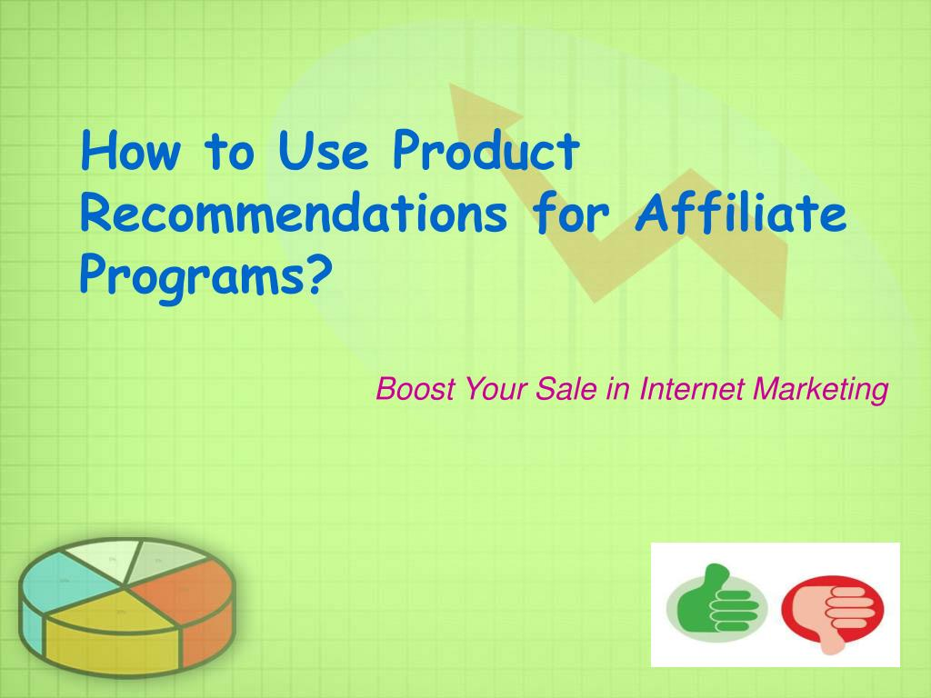 how to use product recommendations for affiliate programs l.