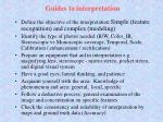 guides to interpretation