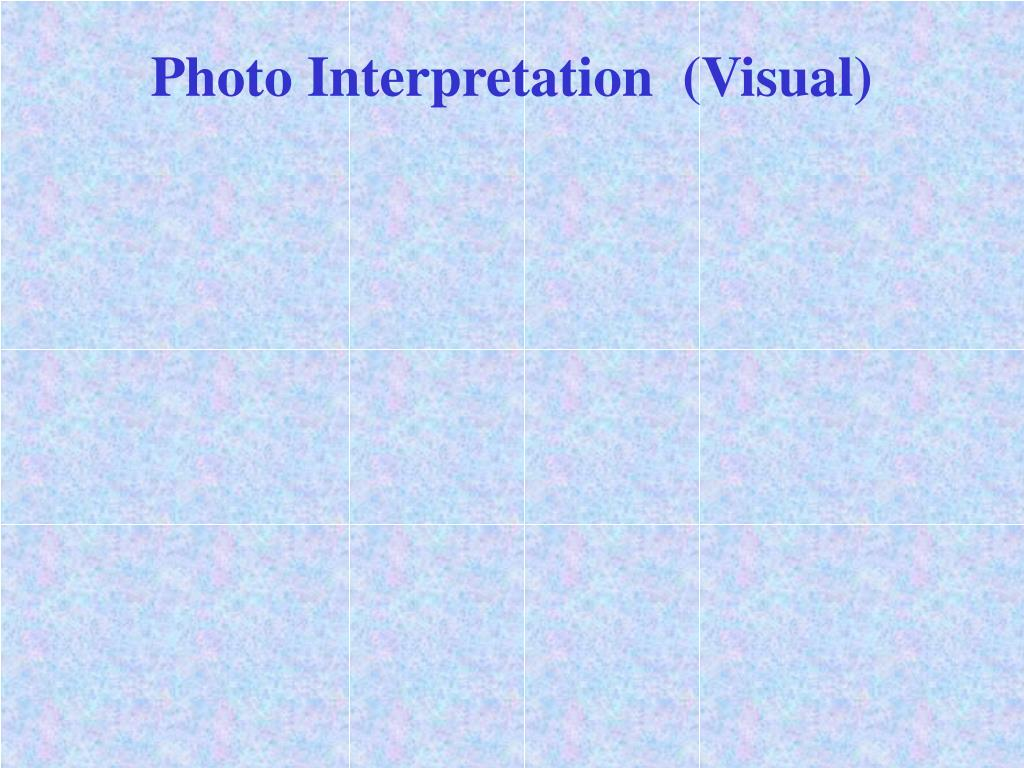 photo interpretation visual l.