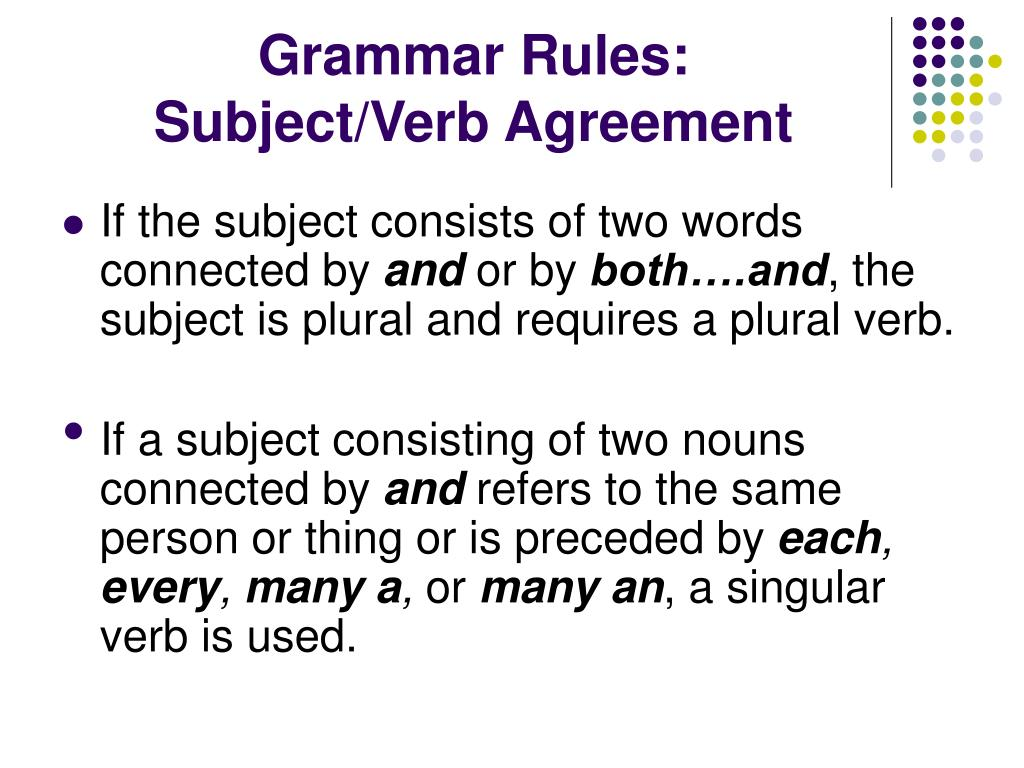 32 Rules Subject Verb Agreement Research Paper Academic
